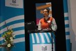 Moderatorin T. Bleck leitet in das Forum ein