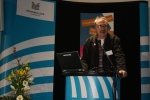 Jochen Dudeck (Stadtbücherei Nordenham) hält den Eröffnungsvortrag
